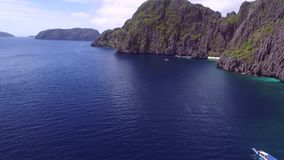Geheime Lagune in EL Nido, Palawan, Philippinen stock video footage