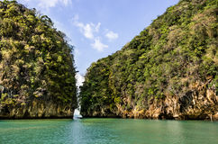 Geheime Lagune van de Provincie van Hong Island - Krabi-, Thailand Stock Afbeelding