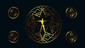 Geheime mystische Symbole stock footage
