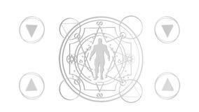 Geheime mystische Symbole stock video footage