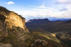 Geheime officieuze vooruitzicht van de Katoomba het Blauwe Berg langs Cliff Drive stock afbeelding