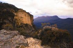 Geheime officieuze vooruitzicht van de Katoomba het Blauwe Berg langs Cliff Drive stock foto