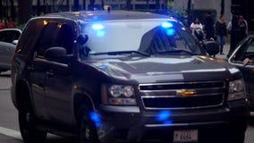 Geheime Polizei-Motor- Stadt von Chicago stock video