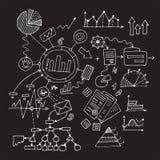 Geheime strategieontwikkeling Boekhoudings bedrijfsconcept Geld Stock Afbeeldingen