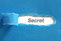 Geheime tekst op papier royalty-vrije stock afbeelding