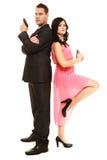 Geheime Untersuchung mit Mann und Frau Lizenzfreie Stockfotografie