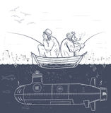 Geheime visserij Stock Fotografie