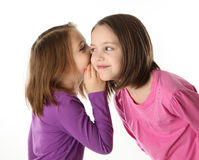 Geheimen tussen zusters Stock Afbeelding