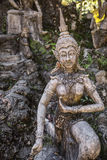 Geheimer Buddha-Garten in Samui - Statue Lizenzfreies Stockfoto