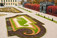 Geheimer Garten, Schonbrunn stockbild