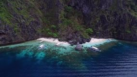 Geheimer Strand in EL Nido, Palawan, Philippinen stock footage
