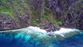 Geheimer Strand in EL Nido, Palawan, Philippinen stock video
