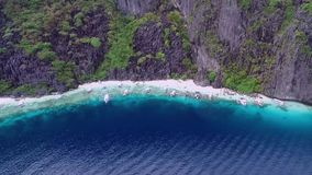 Geheimer Strand in EL Nido, Palawan, Philippinen stock video footage