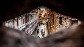Geheimes Venedig Stockfotografie