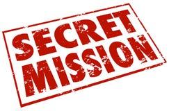 Geheimmissions-roter Stempel fasst Aufgabe Job Task ab Stockbild