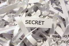 Geheimnis zerrissene Dokumente Stockfoto