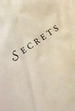 ?Geheimnisse? auf strukturiertem Papier - Diagonale Lizenzfreies Stockbild