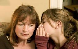 Geheimnisse ihrer Tochter Stockbild