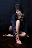 Geheimnisvolle goth Frau lizenzfreies stockfoto