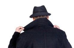 Geheimnisvoller Mann stockbilder