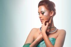 Geheimnisvolles glamor Mädchen stockfotos