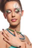 Geheimnisvolles glamor Mädchen lizenzfreies stockfoto