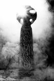 Geheimnisvolles keltisches Kreuz IV Lizenzfreie Stockbilder