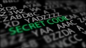 Geheimschrift tussen Grey Inscriptions Stock Afbeelding