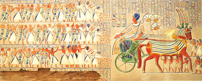 Geheimzinnig beeld van oud Egypte Royalty-vrije Stock Foto's