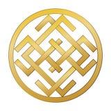Geheimzinnig geheimzinnig oud Slavisch symbool van geluk, rijkdom, geluk Stock Foto