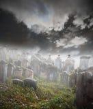 Geheimzinnige begraafplaats Royalty-vrije Stock Afbeelding