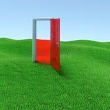 Geheimzinnige deur Stock Afbeeldingen