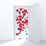Geheimzinnige deur Stock Afbeelding