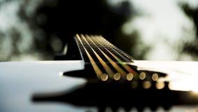 Geheimzinnige gitaar Stock Foto