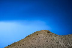 Geheimzinnige hemel in Zagros-bergen Iran royalty-vrije stock fotografie