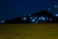 Geheimzinnige Lichten Stock Afbeeldingen