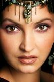 Geheimzinnige oostelijke vrouw royalty-vrije stock afbeeldingen