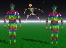 Geheimzinnige schepselen op een verre planeet vector illustratie