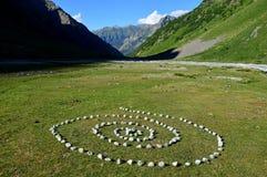 Geheimzinnige spiraal in de bergen royalty-vrije stock afbeeldingen