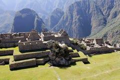 Geheimzinnige stad van Machu Picchu, Peru. Stock Foto's