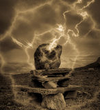 Geheimzinnige steen royalty-vrije stock fotografie