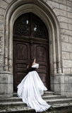 Geheimzinnige vrouw in Victoriaanse kleding Royalty-vrije Stock Foto