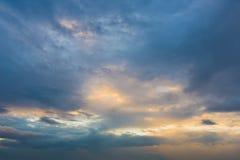 Geheimzinnige wolken Royalty-vrije Stock Foto