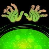 Geheimzinnigheid Gevaarshanden vector illustratie