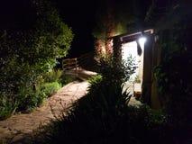 geheimzinnigheid huis bij nacht Royalty-vrije Stock Fotografie