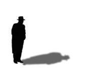 Geheimzinnigheid ManSilhouette Royalty-vrije Stock Afbeeldingen