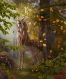Geheimzinnigheid van dalende bladeren Royalty-vrije Stock Afbeeldingen