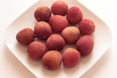 Gehele lychees Stock Fotografie