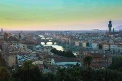 Gehele mening van Florence stock foto's