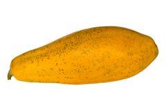Gehele papaja of papaja die op wit wordt geïsoleerdg Royalty-vrije Stock Foto's